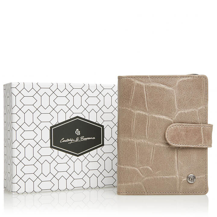 Rfid Portemonnee Dames.Castelijn Beerens Portemonnee Rfid Giftbox Taupe Online Kopen