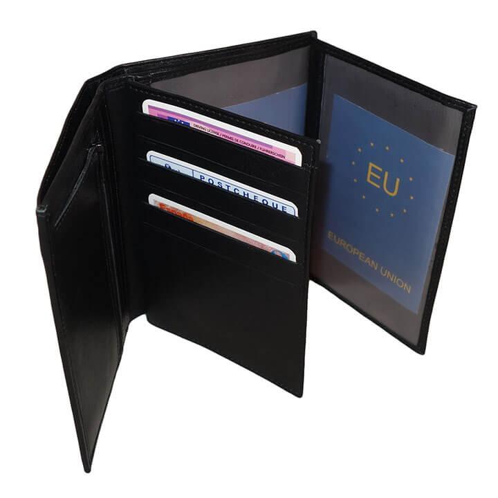 Paspoort Portemonnee.Leather Design Paspoort Portefeuille Zwart Online Kopen