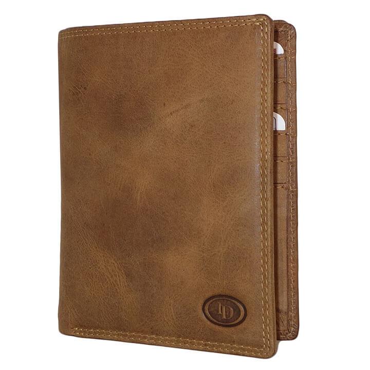 Paspoort Portemonnee.Leather Design Paspoort Portemonnee Hunter Bruin Online Kopen