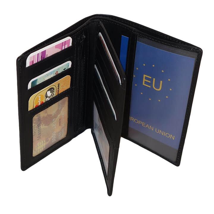 Leather Design Paspoort Portemonnee Zwart | Online Kopen