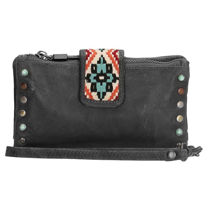 bbd6a29ebc2 Micmacbags Portemonnee / Clutch New Navajo Zwart   Online Kopen