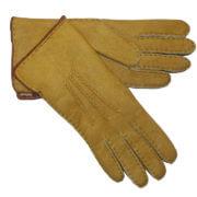 Suède Lammy Handschoenen Beige Maat 9
