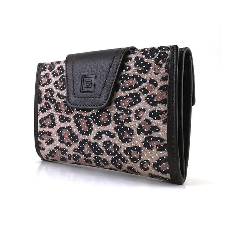 Portemonnee Dames Bruin Leer.Casanova Dames Portemonnee M Marron Bruin Leopard Shop Online