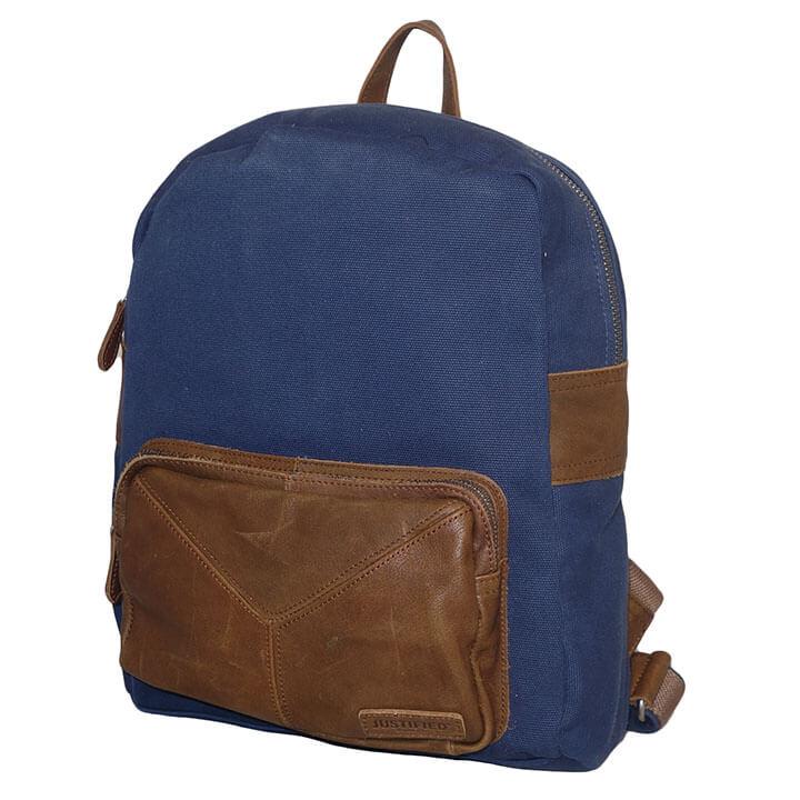81cb1695df3 Deze rugzak is gemaakt van een combinatie van canvas en leer. U kunt de tas  met het lederen handvat dragen of met de verstelbare schouderbanden, ...