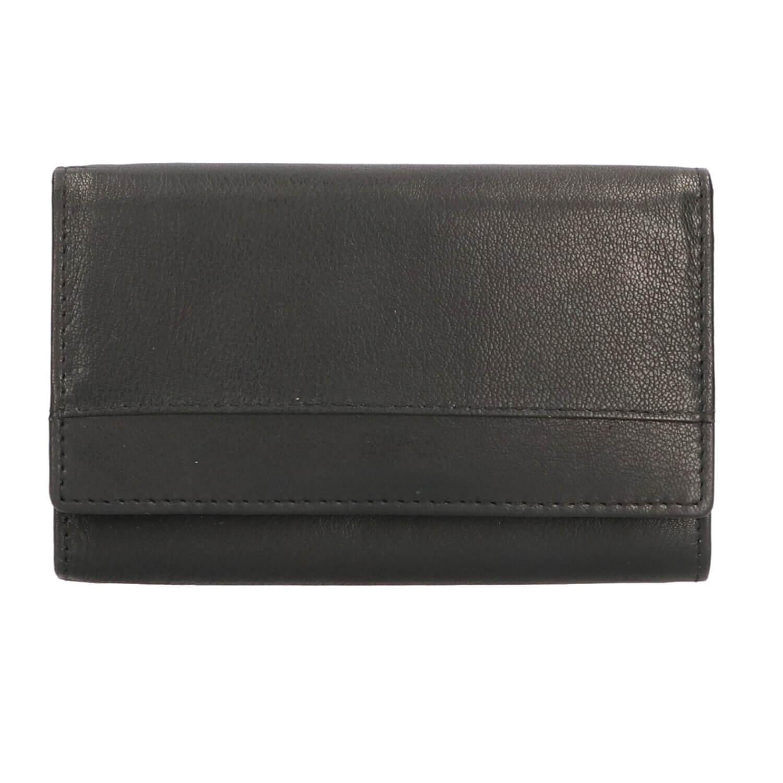 669ba30855f Leather Design Overslag Portemonnee Zwart   Shop Online