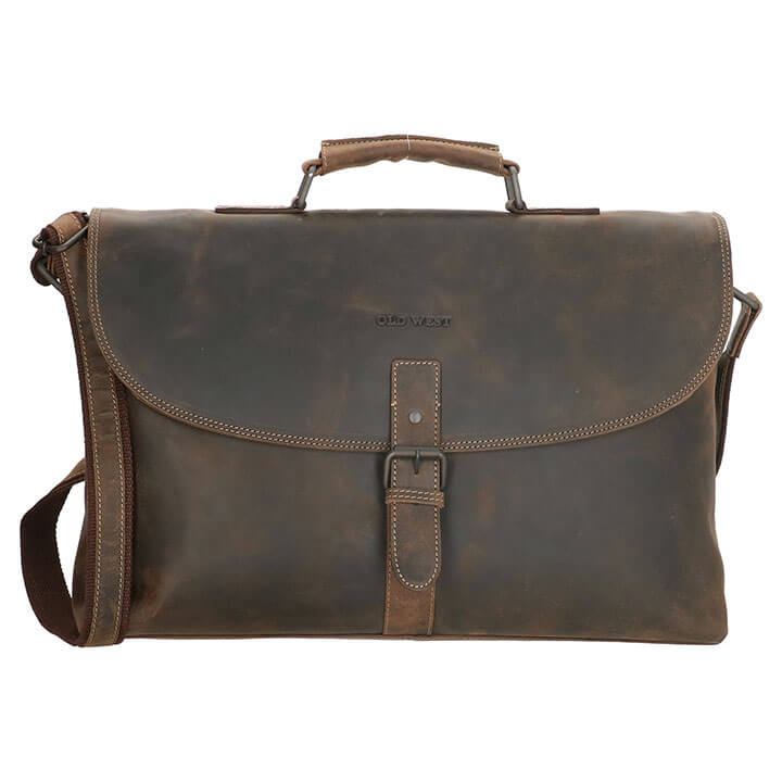 Old West Laptoptas Longview 15.6'' Donker Bruin