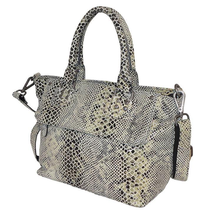 312e9f1df17 Leuke schoudertas / handtas uit de Snake serie van My Lady. De tassen en  portemonnees uit de Snake serie van My Lady hebben een gave snake print op  het leer ...