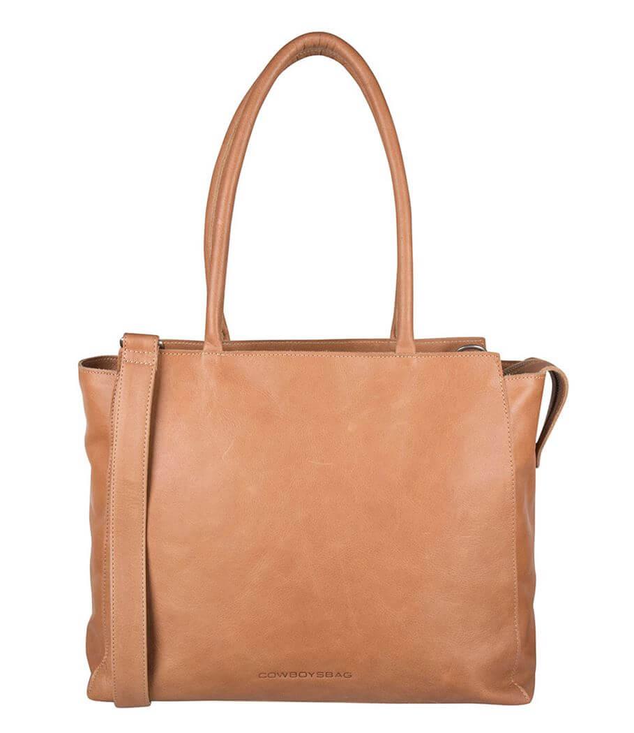 Cowboysbag Schoudertas Laptop Bag 15.6'' Evi Camel