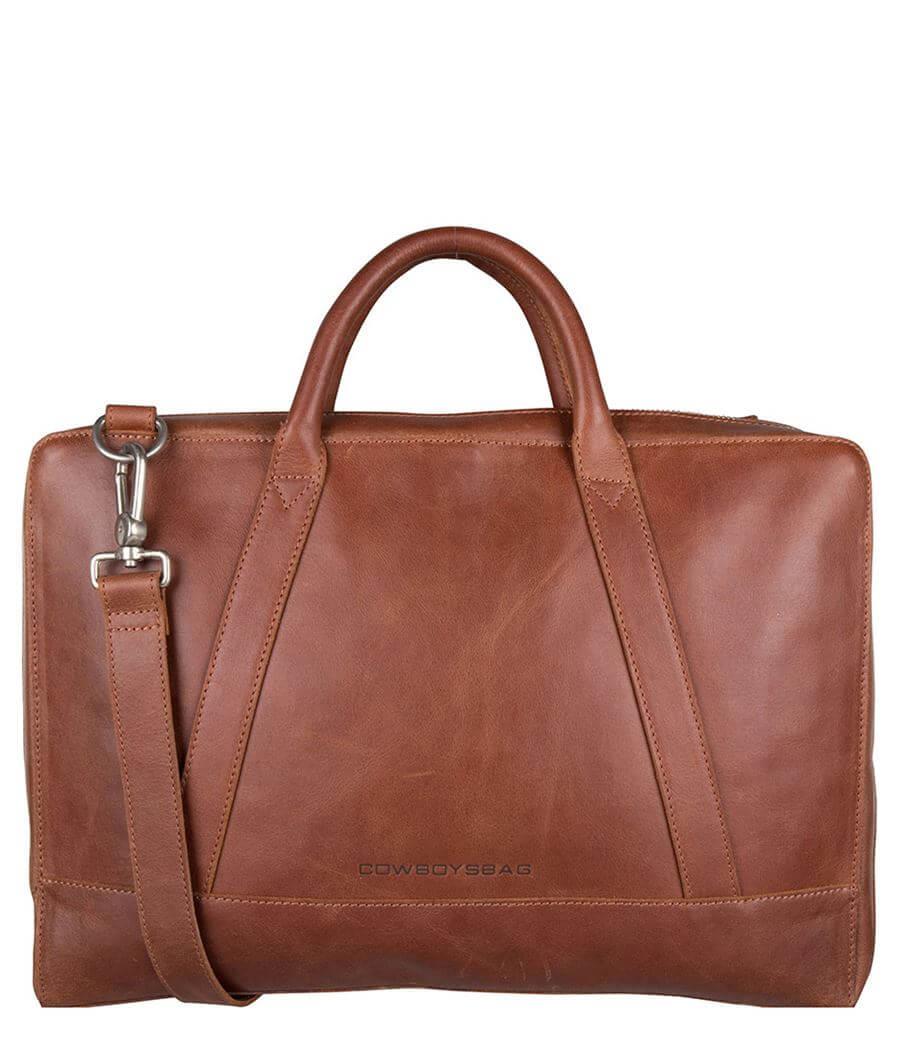 Cowboysbag Schoudertas Laptop Bag 15.6'' Holden Cognac