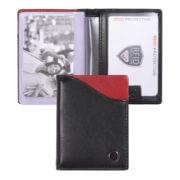 Zoom Wallet Pasjeshouder RFID Zwart/Rood