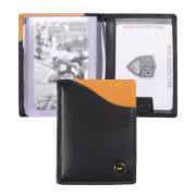 Zoom Wallet Pasjeshouder RFID Zwart/Oker Geel