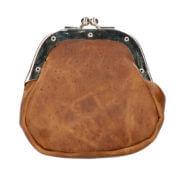 Leather Design Leren Beursje M Hunter Bruin