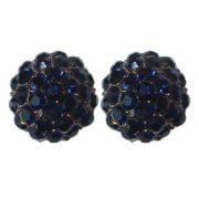 Oorclips Strass Blauw