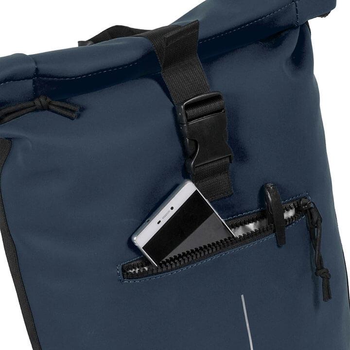 New Rebels Waterproof Rolltop Rugzak Laptopvak 15'' Donker Blauw