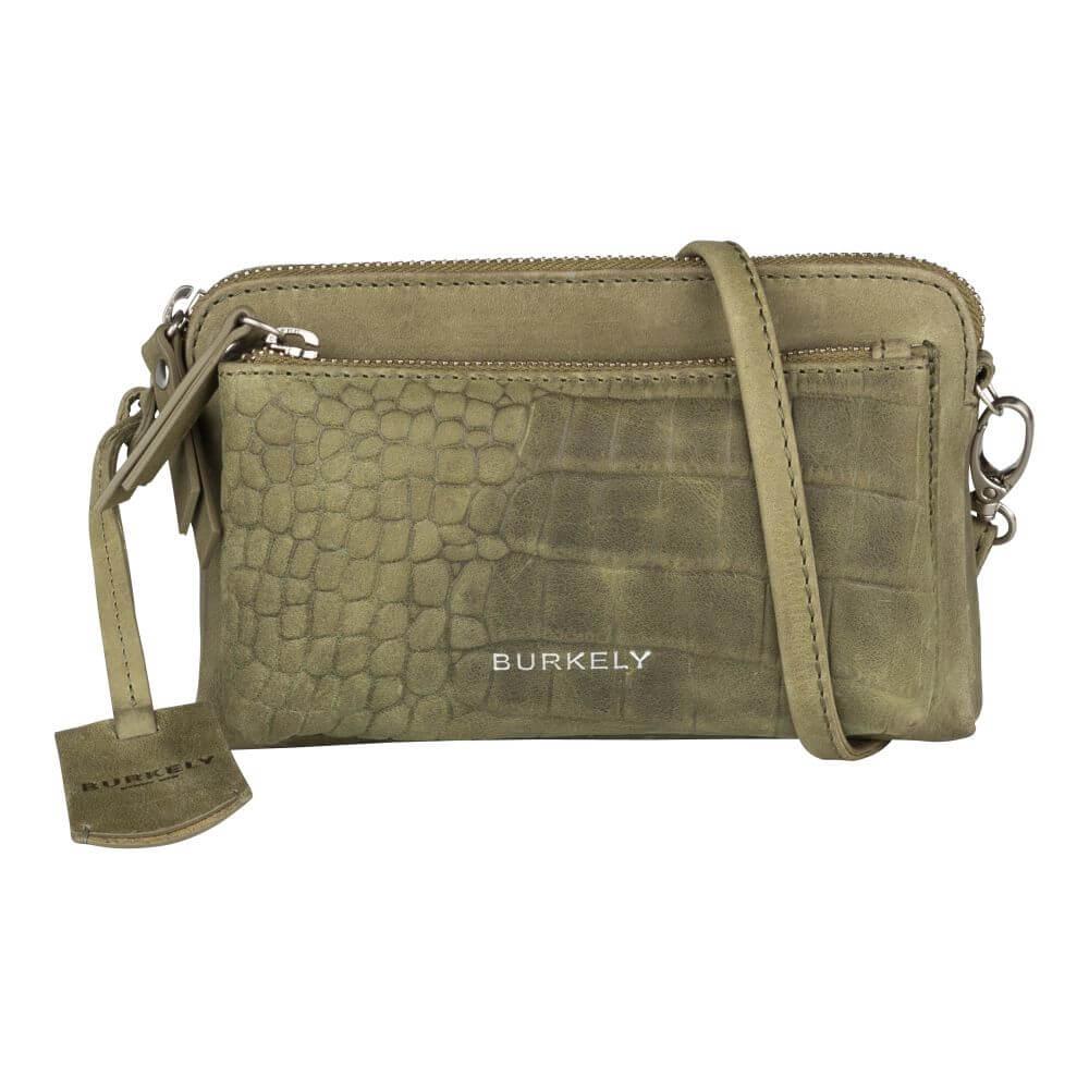Burkely Croco Cody Minibag Schoudertasje Licht Groen