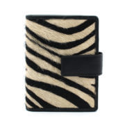 DSTRCT Wild And Free Pasjeshouder Billfold RFID Black with Zebra