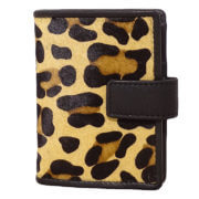 DSTRCT Wild And Free Pasjeshouder Billfold RFID Black with Leopard