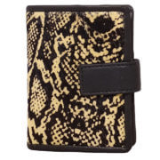 DSTRCT Wild And Free Pasjeshouder Billfold RFID Black with Snake