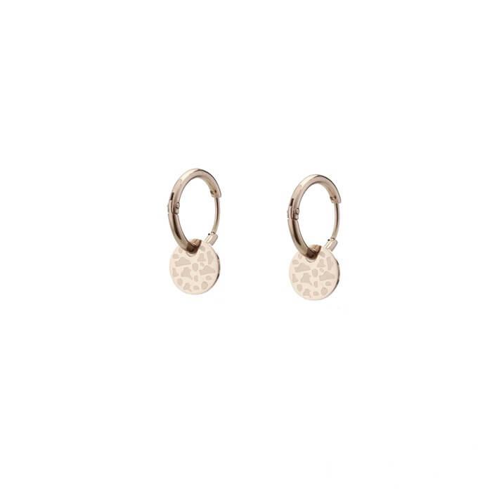Go Dutch Label Creolen Leopard Ring Rosé Goud