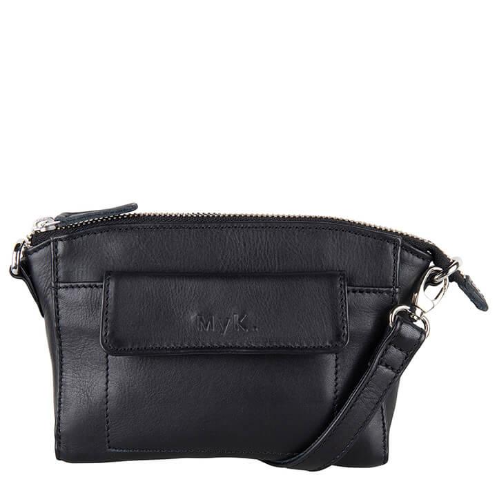 MyK Bag Carlton Schoudertasje - Heuptas Black