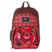 O'Neill Rugzak Wedge Backpack Red AOP With Pink