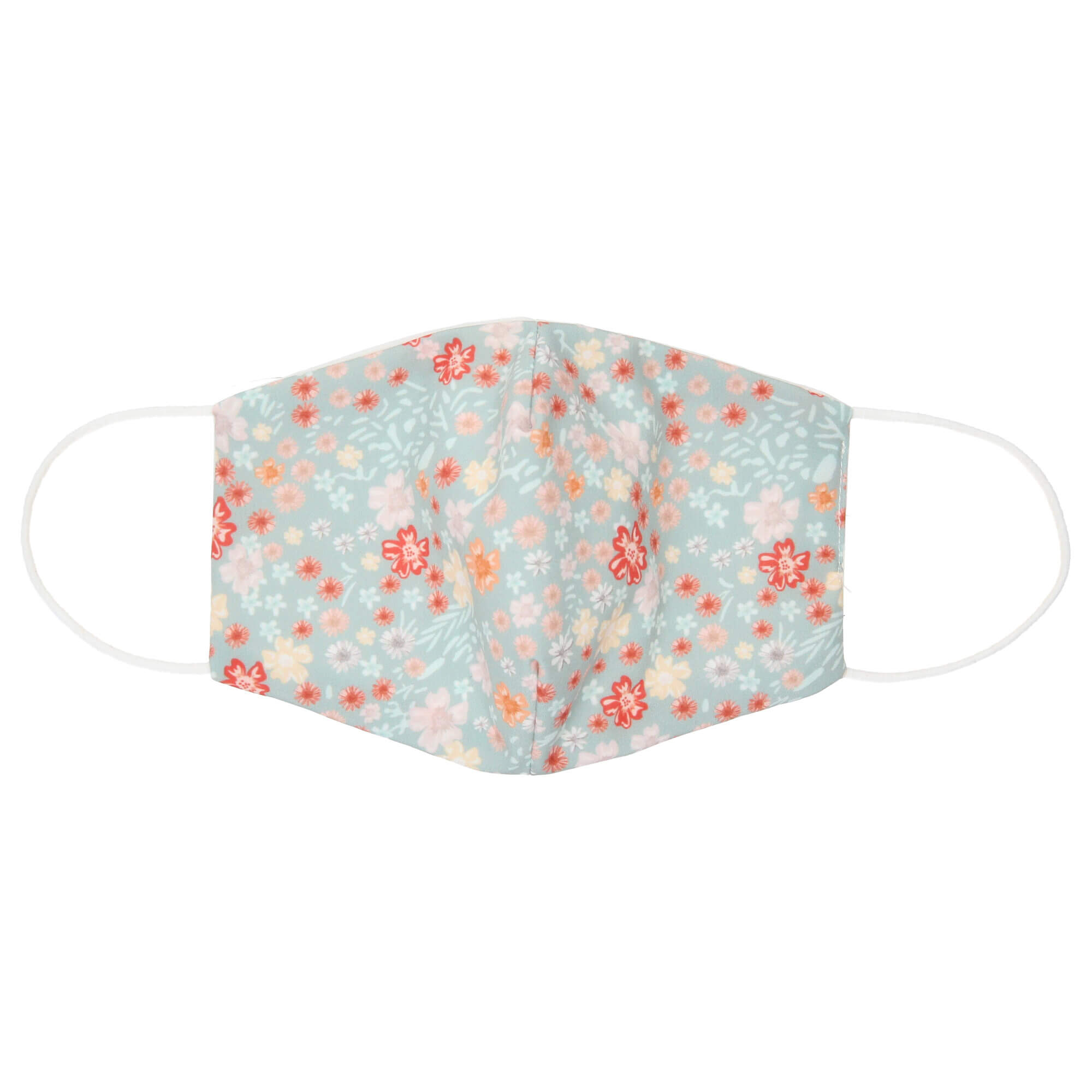 Wasbare Katoenen Mondkapje Bloemen Print