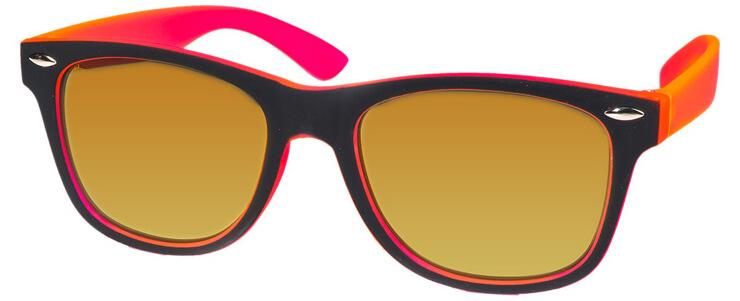 Kool-KidZ Wayfarer Kinder Zonnebril Zwart/Roze