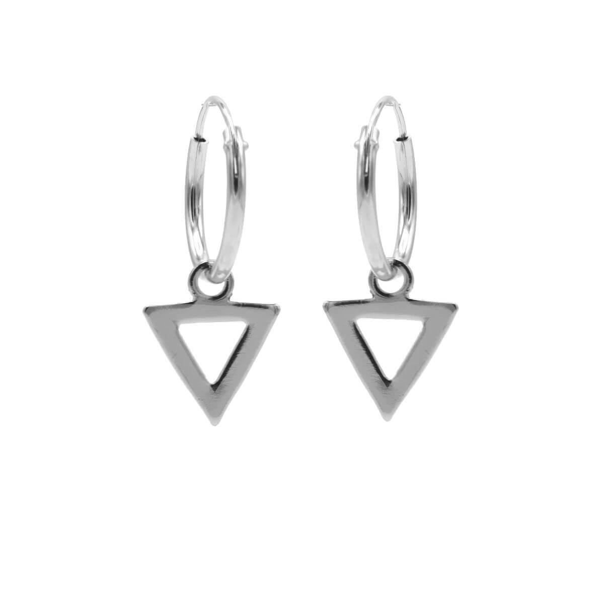 Karma Oorringen Hoops Open Triangle Zilver