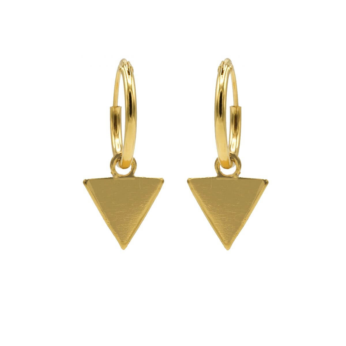 Karma Oorringen Hoops Triangle Goud