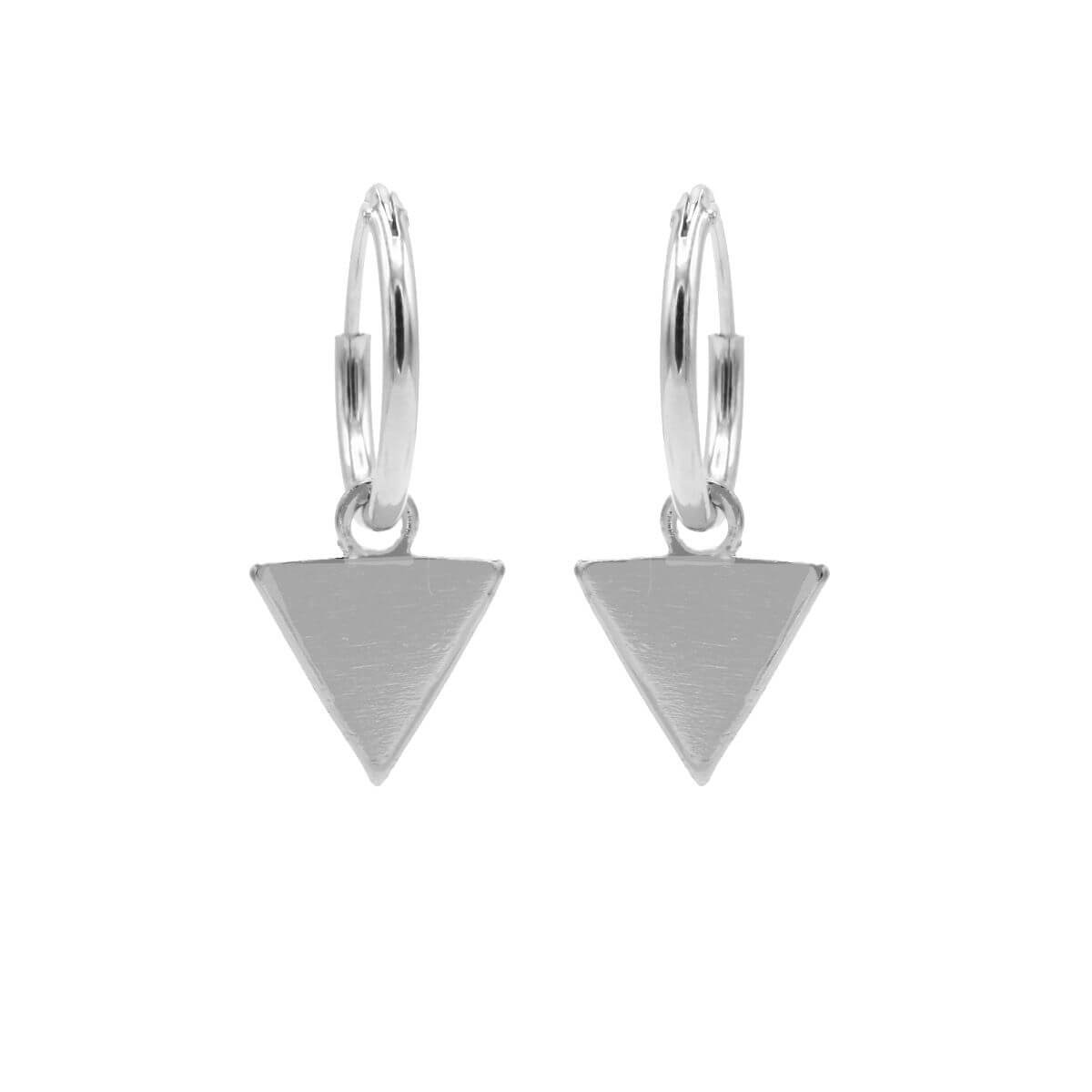 Karma Oorringen Hoops Triangle Zilver