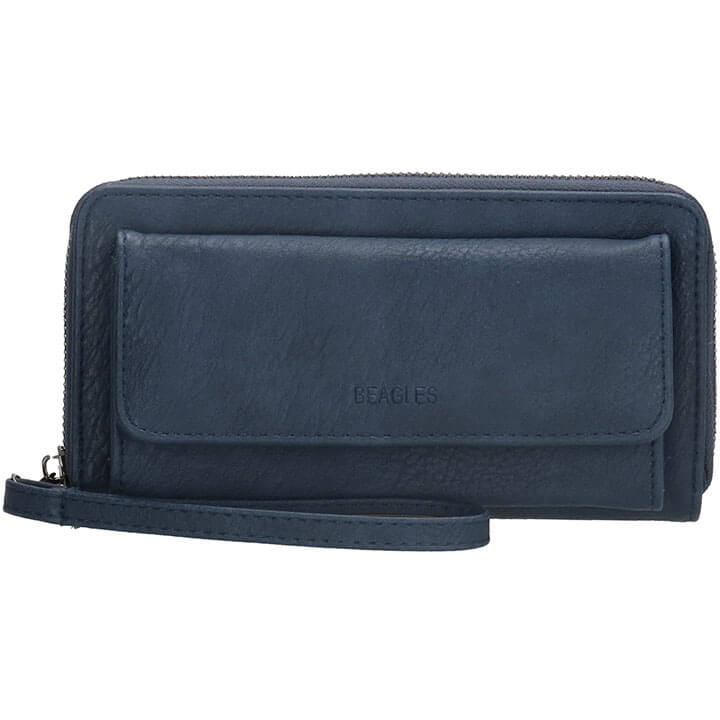 Beagles Zip Around Portemonnee / Clutch Rebelle Navy