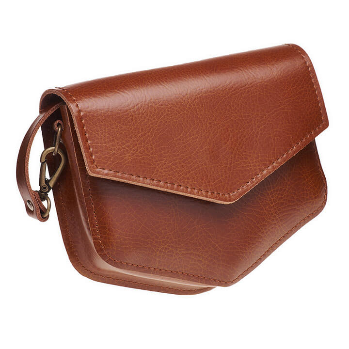 Elvy Crossbody Schoudertasje Kelly Cognac