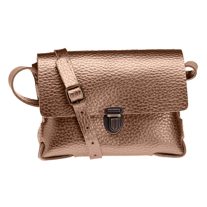 Elvy Crossbody Schoudertasje Gloria Metallic Bubble Bronze