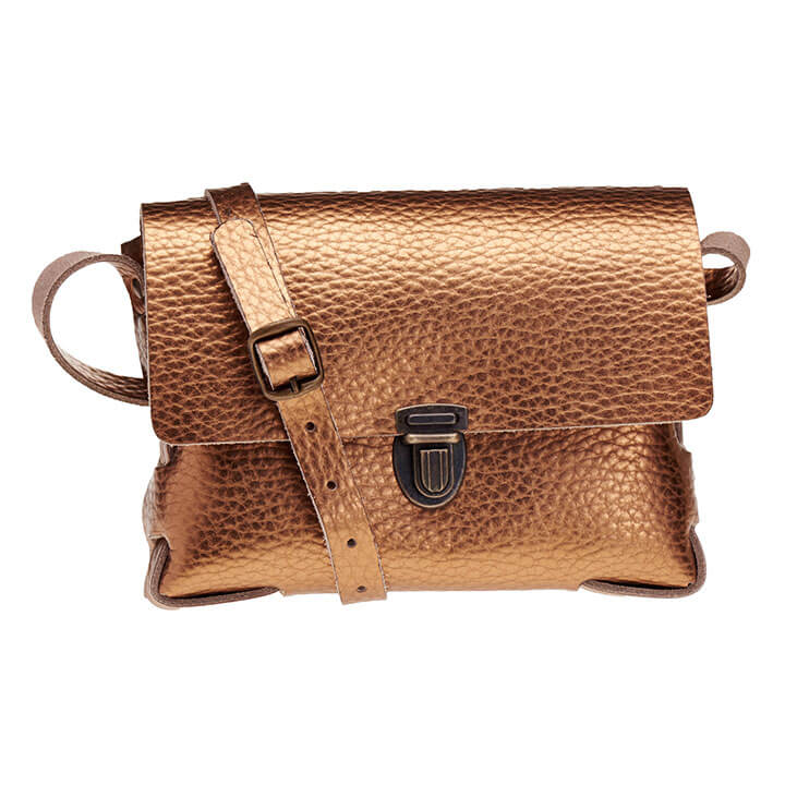 Elvy Crossbody Schoudertasje Gloria Metallic Bubble Copper