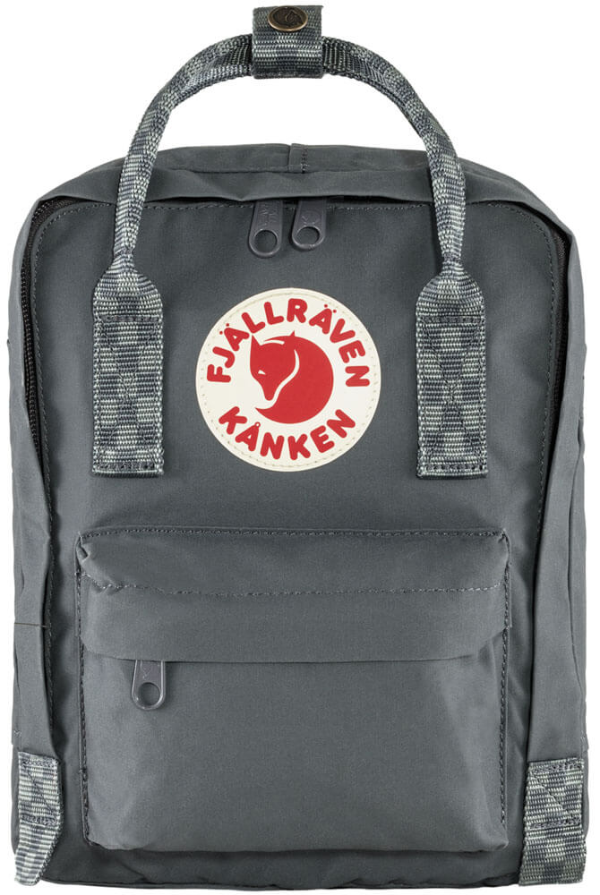 Fjällräven Kånken Mini Rugzak Super Grey-Chess Pattern