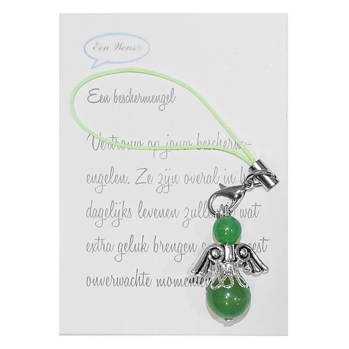 Kleine Halfedelstenen Beschermengel Jade