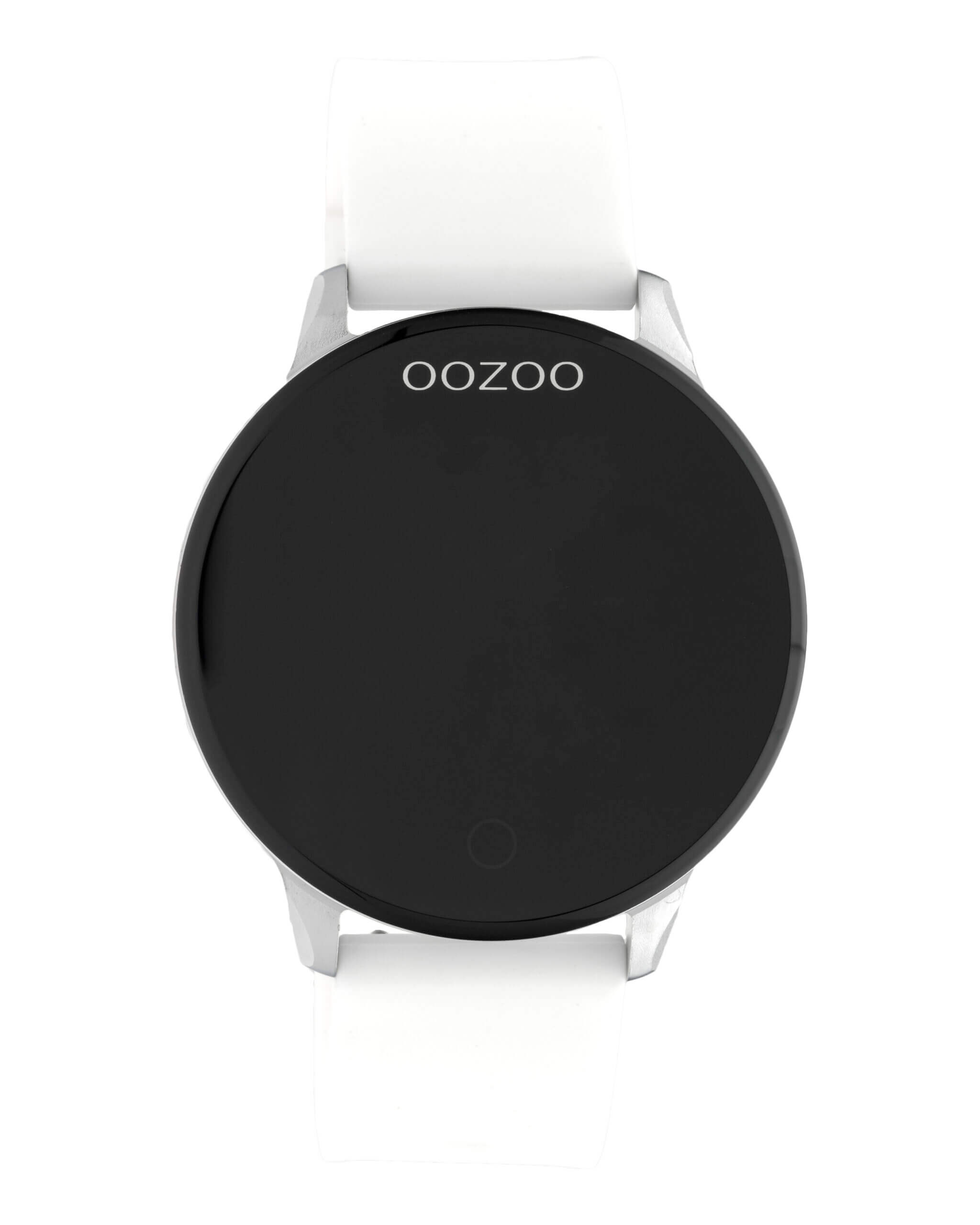 OOZOO Smartwatch Rubber Wit/Zilver | Q00110