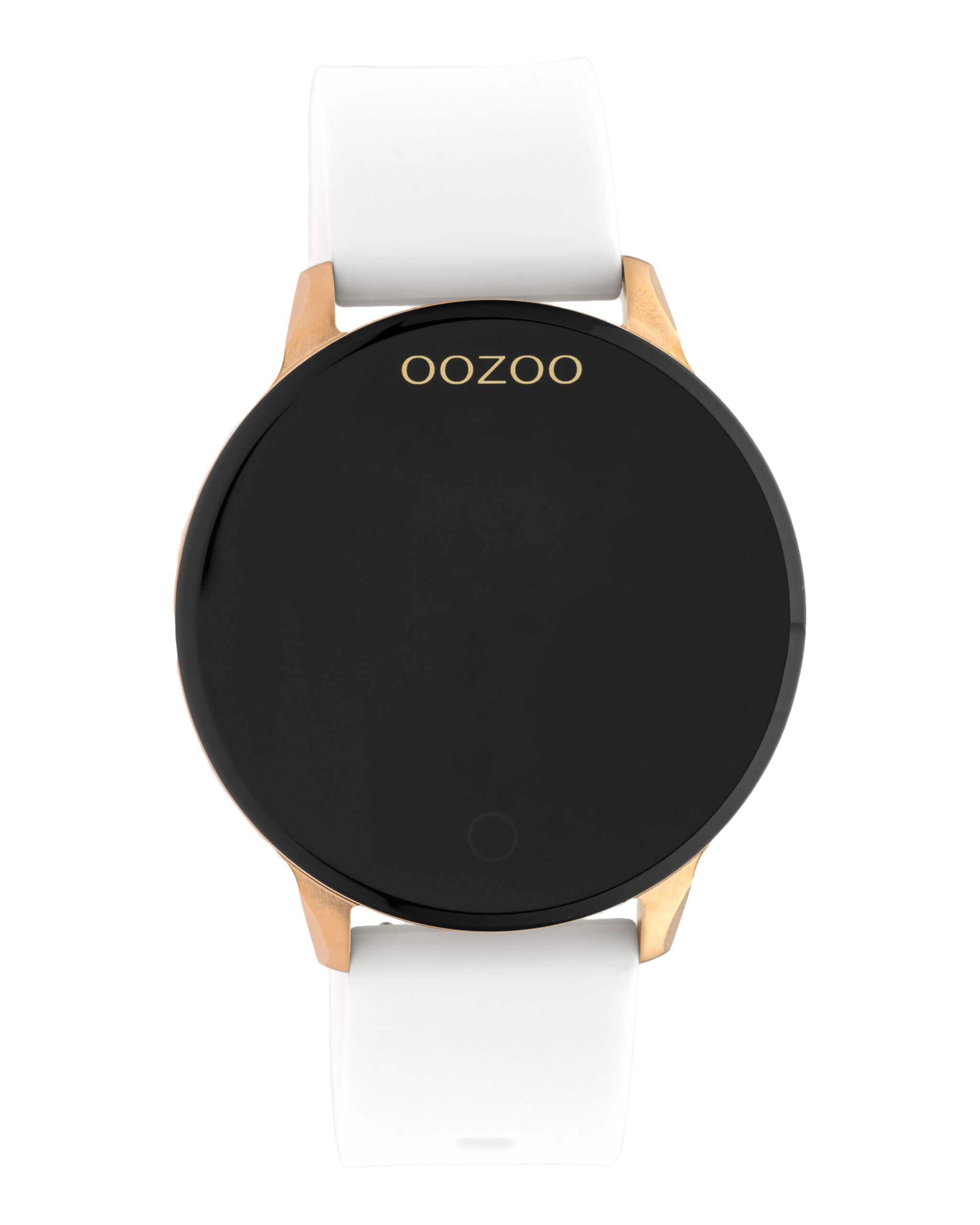 OOZOO Smartwatch Rubber Wit/Rosé | Q00111