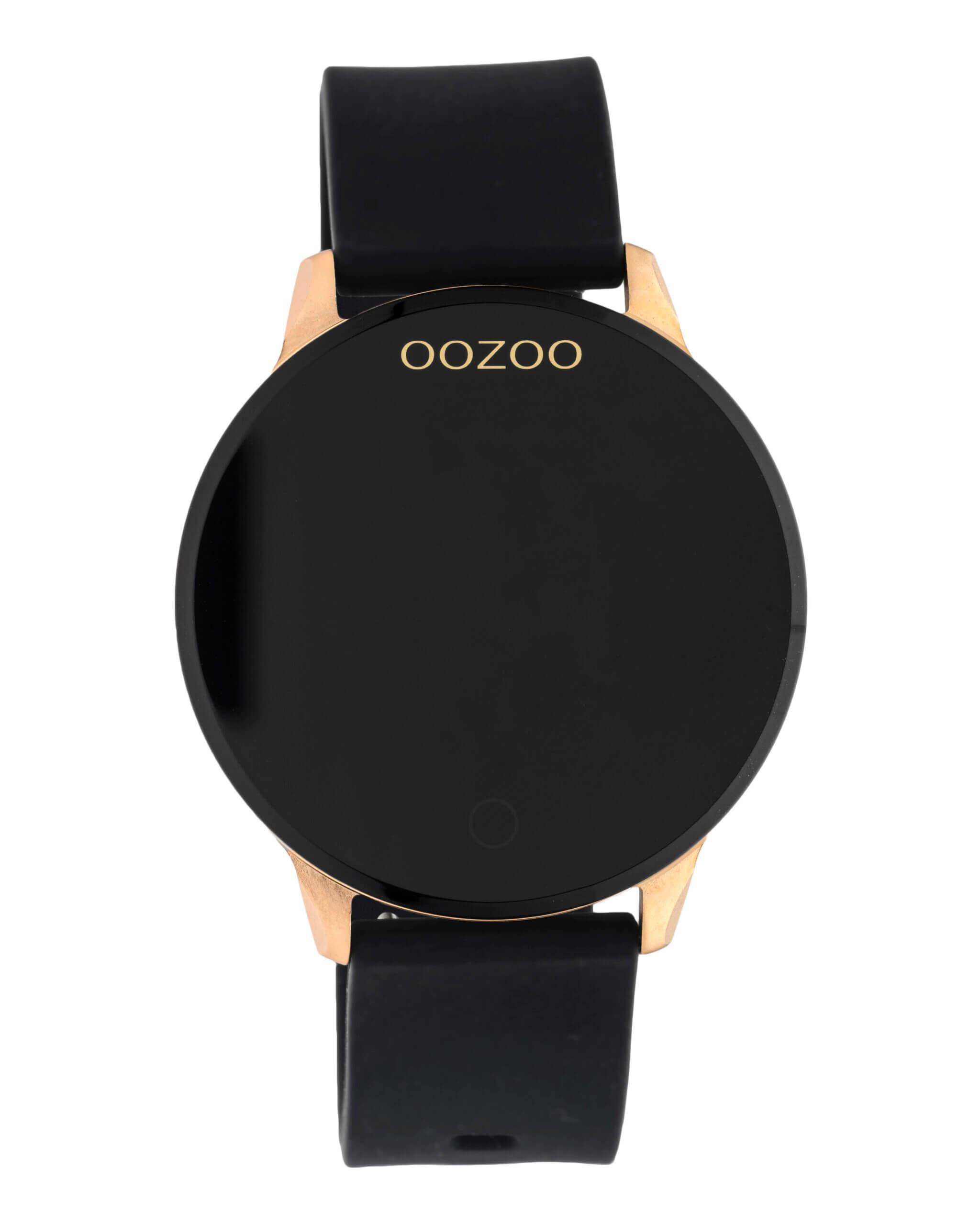 OOZOO Smartwatch Rubber Zwart/Rosé | Q00114