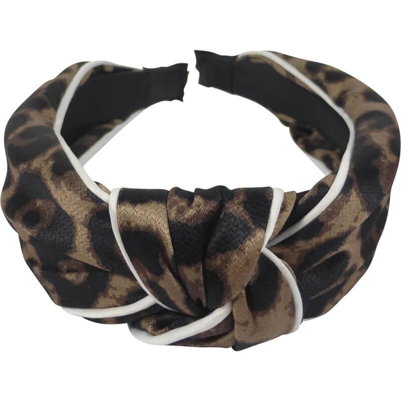 Diadeem Leopard met Knoop 4 cm