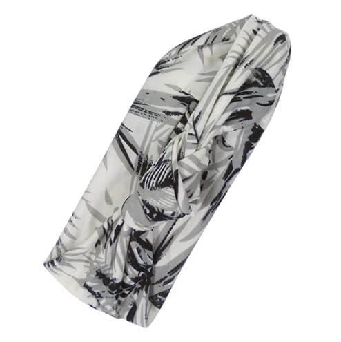 Stoffen Haarband / Hoofdband Palms Grijs