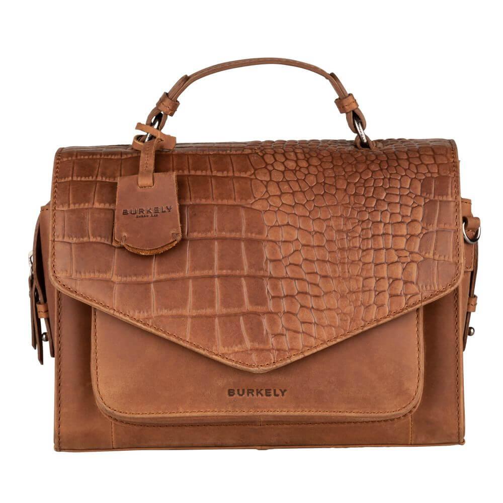 Burkely Croco Cody Citybag Schoudertas Cognac