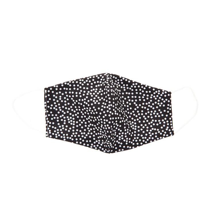 Wasbare Katoenen Mondkapje Stip Wit op Zwart