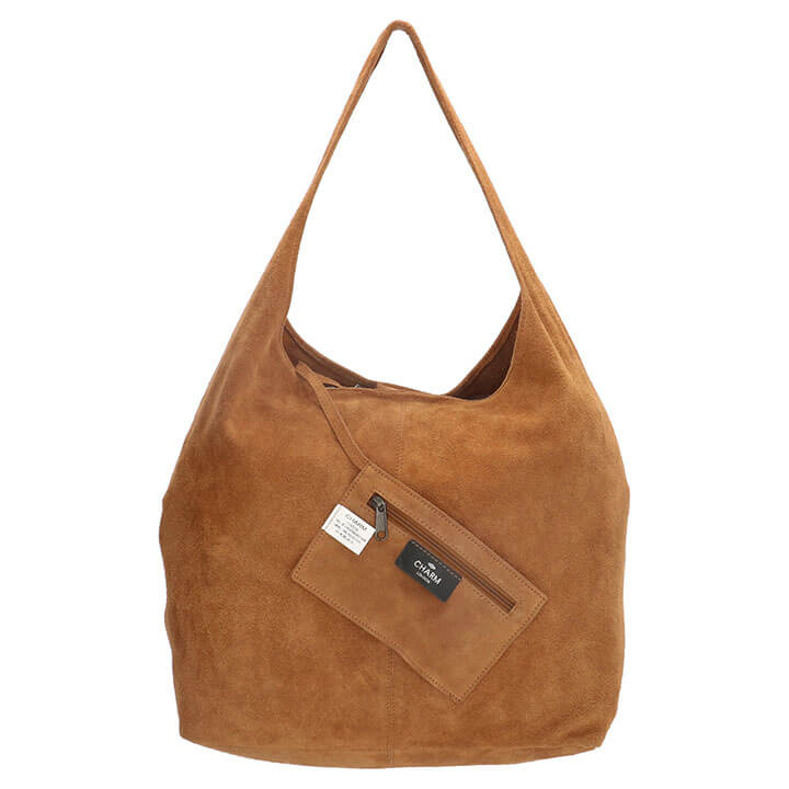 Charm London Suède Shopper met Etui Cognac