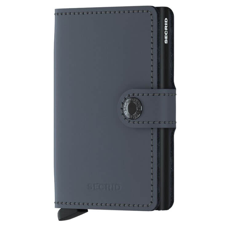 Secrid Mini Wallet Portemonnee Matte Grey - Black