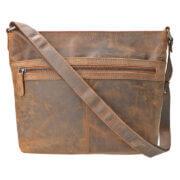 Leather Design Schoudertas Hunter Bruin