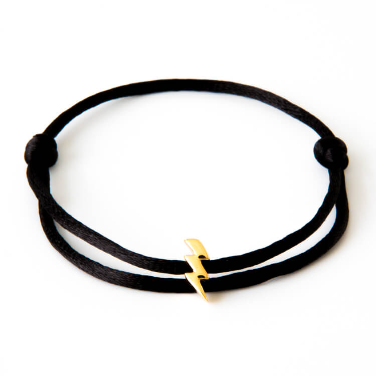 Caviar Collection Armband / Enkelbandje Neon Black X Lightning Gold