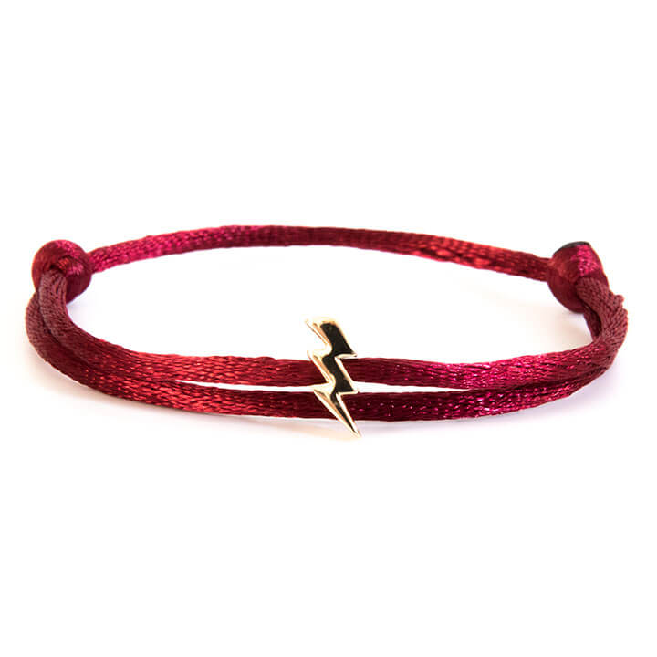 Caviar Collection Armband Neon Bordeaux Red X Lightning Gold