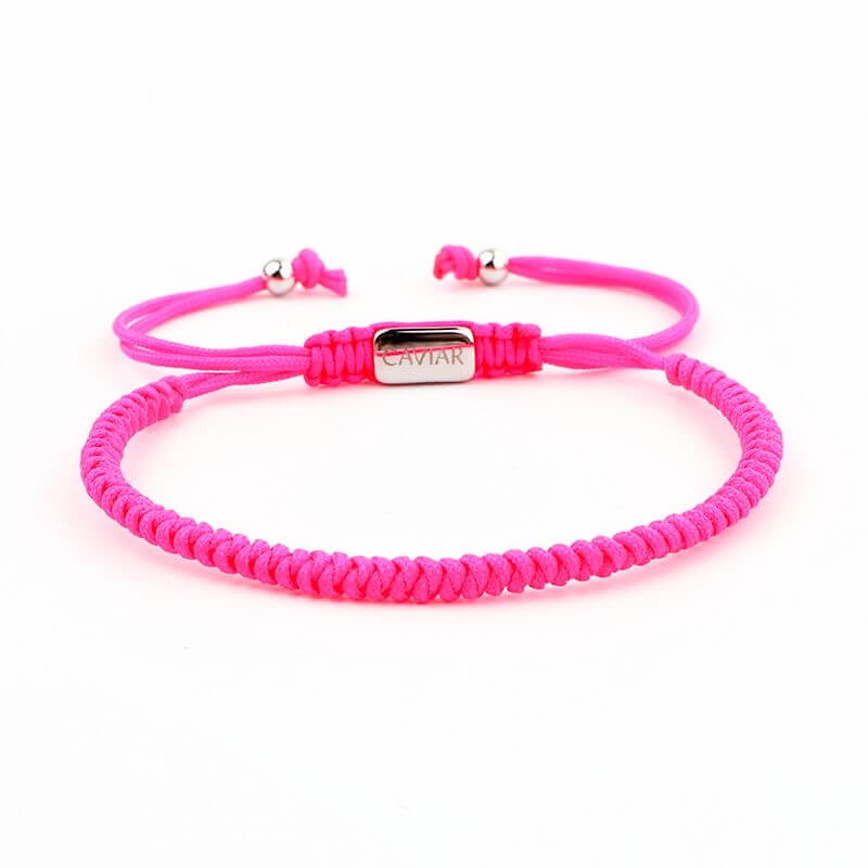 Caviar Collection Armband / Enkelbandje Neon X Pink