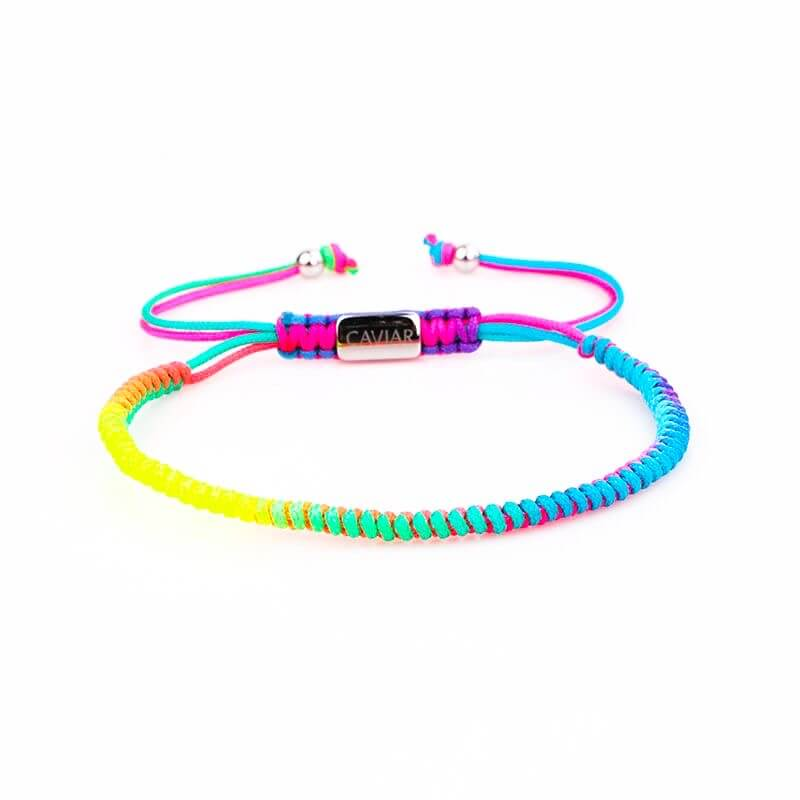 Caviar Collection Armband / Enkelbandje Neon X Rainbow